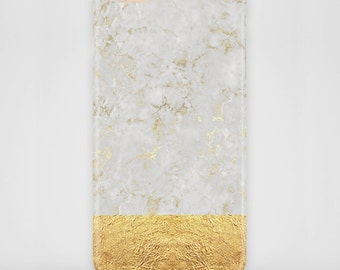 Cell phone case Marble gold