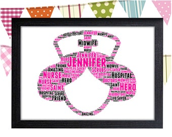 Personalized Gift Nurse Gift For Nurses Gift Doctor Gift Surgeon Gift Wall Prints Wall Art Wall Decor Personalised Gift Wall Art Prints