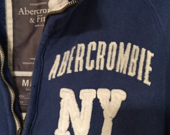 Abercrombie// Blue// Sweat Shirt// Zipper Style//  Wonderful Condition!