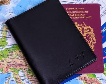 Personalised Initials Passport Holder