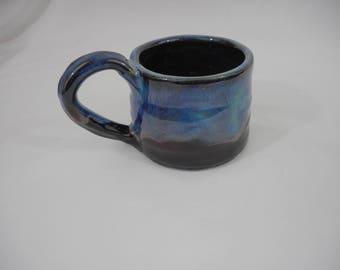 Variegated Stoneware Ceramic Mug, Handmade Pottery, Hand Painted, Hand Thrown, Drinkware, Coffee, Tea, Cup, Gift (C0027)