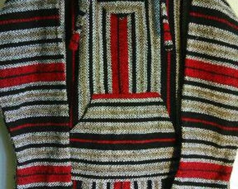 Vintage Poncho with Hood
