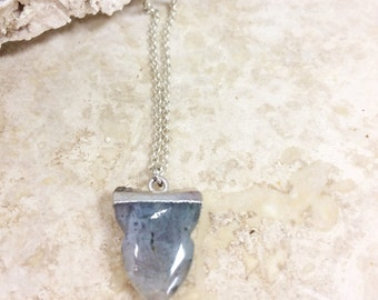 Cosmic Lover Talisman (SILVER) - luminous labratorite pendant hangs from dainty rolo chain with lobster clasp