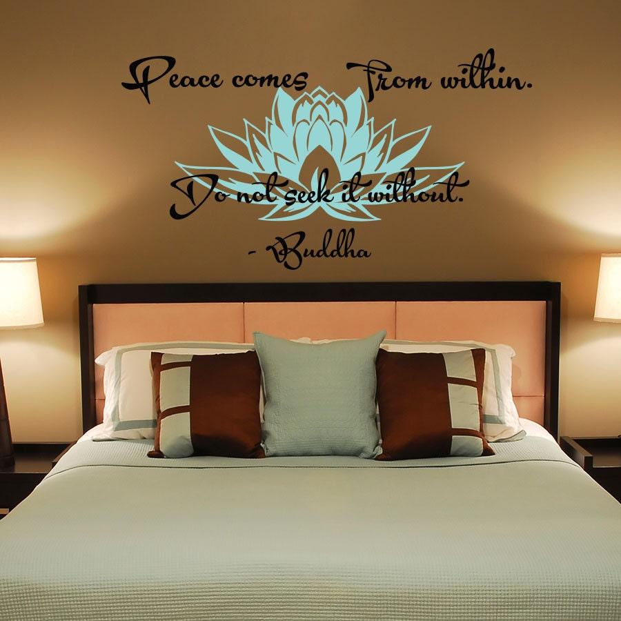 Wand Aufkleber Frieden kommt von innen suchen Sie es ohne