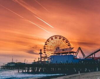 Santa Monica Pier. Printable. Instant Download.