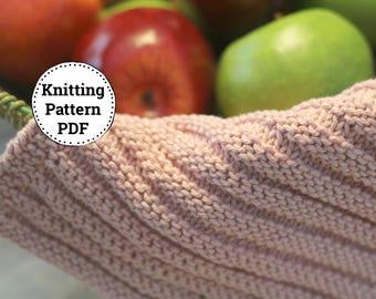 KNITTING PATTERN   Dishcloth Pattern   Knitted Dishcloth Pattern   Speed Bumps Dishcloth Pattern
