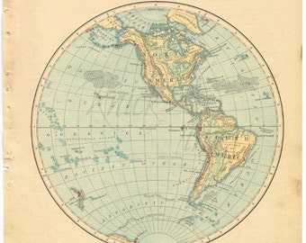 Antique world map 1885 eastern hemisphere digital download antique world map 1885 western hemisphere digital download buy 2 digital downloadsget 1 free gumiabroncs Image collections