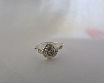 silver hand crafted ring