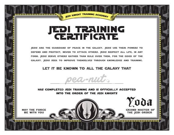 printable training certificate