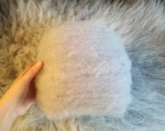 lilac felting wool 1 oz, purple felting batt, British carded batt, hand dyed batt, heather mini batt, easy felt purple, wool by elf kendal