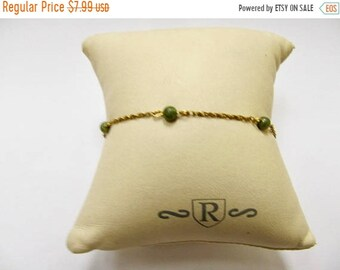 On Sale Vintage 1/20 12kt Gold Filled Jade Beaded Necklace Item K # 925