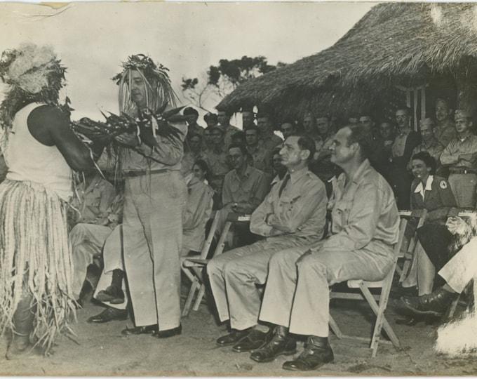 Vintage Snapshot Photo [5x7]: New Caledonia..Native Celebration [86691]
