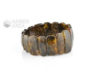 Dark Green Baltic Amber Bracelet