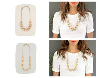 Simple Wood Necklace // Medium