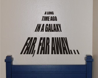 Star Wars A Long Time Ago Wall Decal - Star Wars Wall Decal - Star Wars Decal - Star Wars - Vinyl Wall Decal -Teen Decal