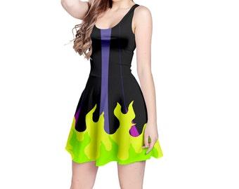 Maleficent Sleeping Beauty Inspired Sleeveless Dress