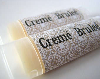 Creme Brulee - creamy custard - Vegan Lip Balm - Natural Lip Butter - Bath and Beauty - Home and Living