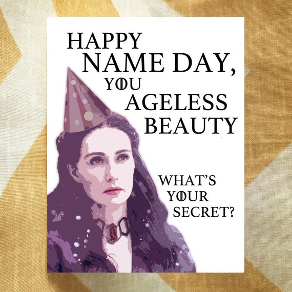 Game Of Thrones Birthday Card Melisandre Happy Name Day