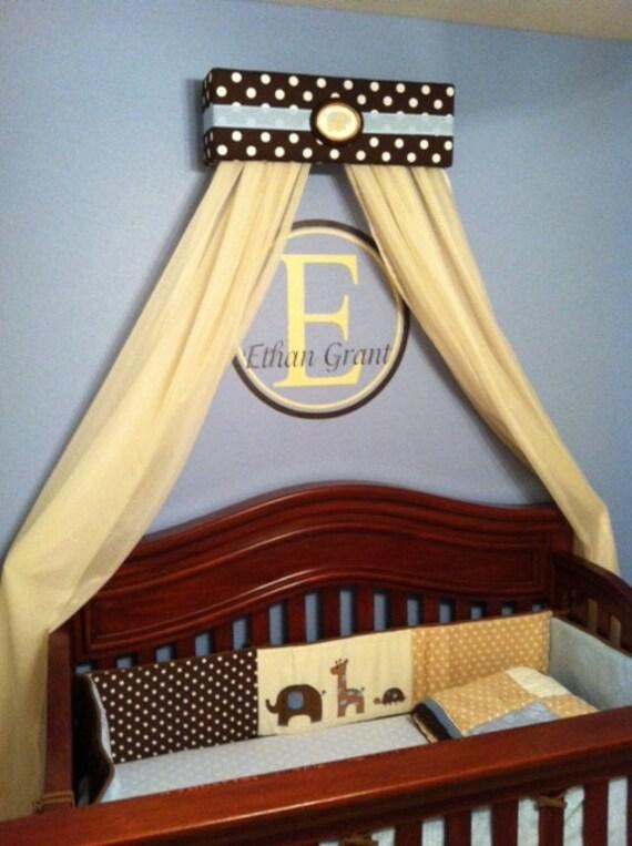 Prince Boy Crib Nursery Crown Bed Canopy Padded Teester