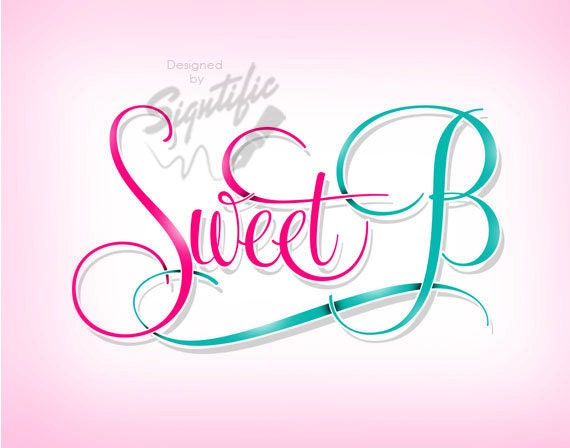 Elegant cursive lettering logo, boutique logo design, free PSD source file, custom girly logo design in any colors, sassy logo design