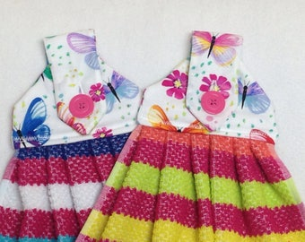 Colorful Butterflies Hanging Kitchen Towels