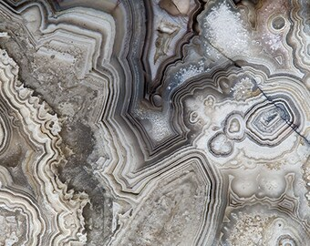 Mineral Photography - (Print # 054)  Agate Slab-Fine Art Print - Two Paper Choices- Mineral Geode Agate Crystal Decor