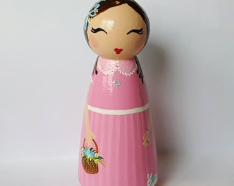 Hand Painted Love Boxes Easter Sunday Doll Wood