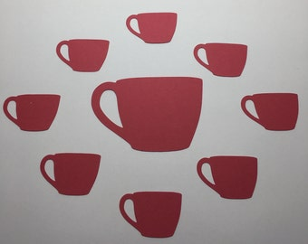 25 Die Cut Cardstock Coffee Mug