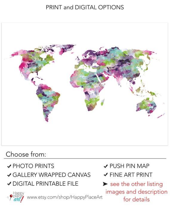Funky world map pink and purple world map bright color world gumiabroncs Images