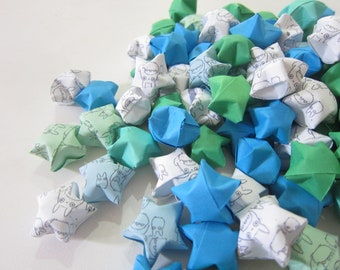 SALE 100 My Neighbor Totoro Blue Green Mix Origami Stars