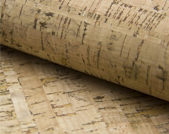 Cork fabric 65*50cm/25.5*19.6inch rustic natural cork leather Portuguese natural Material for handmade supply Kork corcho Cof-31