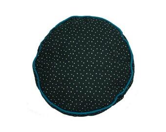 Round Piped Cushion (Black Stars)