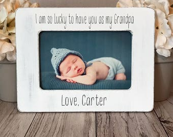 4x6 grandpa picture frame, gift for grandpa, custom picture frame,father's day gift, personalized picture frame, grandpa gift
