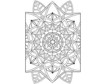 Flower Coloring Page- PDF Instant Download