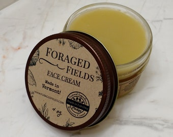 COMPLETELY Natural Face Cream - Organic, Healing, Anti Aging, Hydrating, Sensitive Skin Safe, Healthy, Eco Friendly, Small Batch,