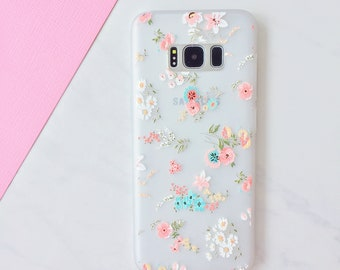 Floral Bloom Soft Silicone Samsung Galaxy Case - Samsung Galaxy S8, S8 Plus, S9, S9 Plus