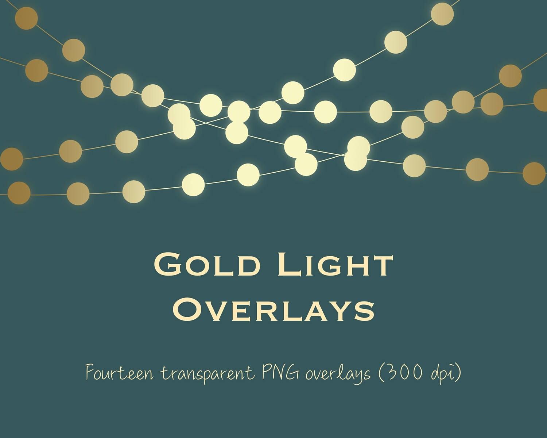 Gold Light Clipart Gold String Lights Clipart Gold Light