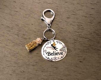 """Fairytale fairy """"beleive"""" keychain"""