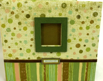 K&Co. Beautiful Life Green Scrapbook 12x12