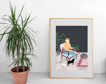 Home is where my cat is by Chloe Joyce Designs