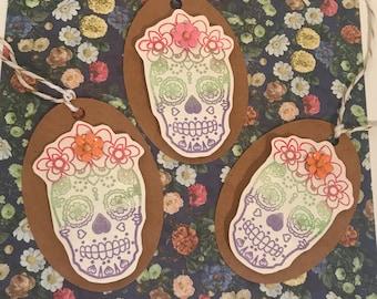 6 Skull Gift Tags
