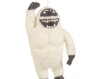 Yeti - Felt animals - Needle felted Animal - Wool felt - Arctic  decorations - Baby shower - Merino wool - Ethical - Handmade
