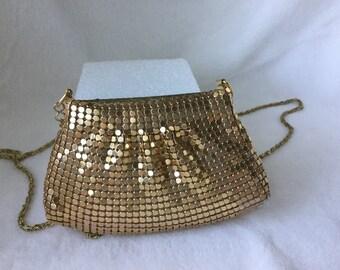 Purse,Evening Bag, Gold Evening Shoulder Bag, Holiday Purse,Bling Purse, Vintage Gold Evening, Party Purse