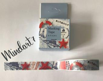 Masking Tape Lighthouse / Sea