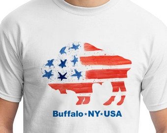 American Flag - Buffalo - Adult TShirt