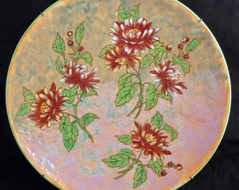 Huge Vintage Royal Doulton CHRYSANTHEMUM D6299 Charger - 34cm - Wired