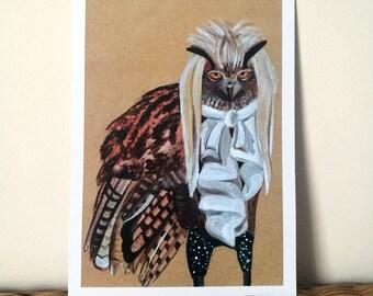 Labyrinth Owl - A5 Print