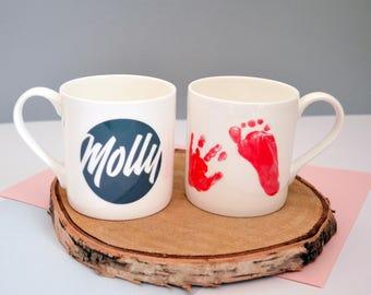 Personalised Hand & Footprint Mug
