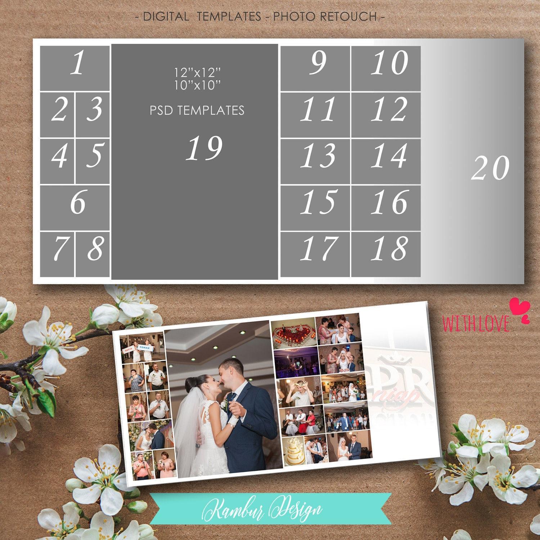 12 x 12 10 x 10 Story-Board-Vorlage Photoshop Psd-Dateien