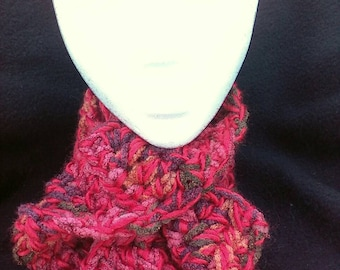 OOAK - Warm & Stylish Blended Wool and Cotton Yarns Hand-crafted Scarf
